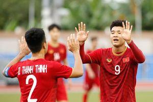 Hà Đức Chinh lập hat-trick, U22 Việt Nam thắng đậm U22 Brunei