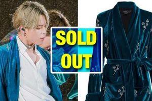 Nhờ Jimin BTS mặc ít phút, chiếc áo khoác xanh gần 1.000 USD cháy hàng