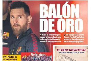 Báo Tây Ban Nha gây sốt khi hé lộ Messi giành Quả bóng Vàng 2019