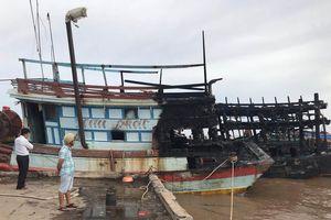 Cháy ba tàu đánh cá tại Bến Tre, thiệt hại khoảng 12 tỷ đồng