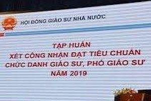Một ứng viên xin rút khỏi danh sách công nhận Giáo sư năm 2019