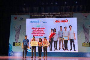 Nhóm sinh viên Trường Đại học kinh tế Đà Nẵng giành giải thưởng Euréka-2019