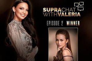 Ngọc Châu chiến thắng vòng thi đối thoại bằng tiếng Anh với đương kim Hoa hậu Valeria