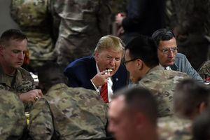 Hình ảnh chuyến đi bí mật của ông Trump đến Afghanistan