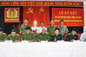 Ký Quy chế phối hợp phòng, chống tội phạm trên địa bàn quận Sơn Trà và Ngũ Hành Sơn