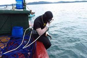 Đứt dây ô xy, thợ lặn mất tích