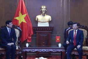 Viện trưởng VKSND tối cao tiếp đoàn Đại biểu VKSND tối cao Trung Quốc