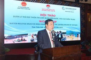 Quản lý rủi ro thiên tai liên quan đến nước ở khu vực miền Trung