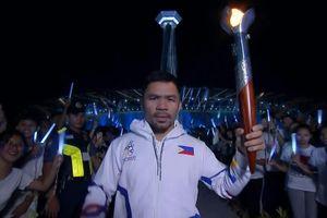 Huyền thoại quyền anh Pacquiao thắp đuốc SEA Games 30
