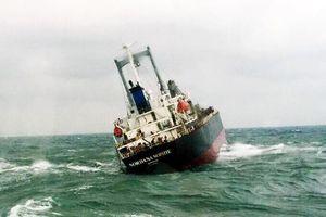 Tập trung xử lý sự cố tràn dầu từ tàu hàng bị chìm ở vùng biển Hà Tĩnh