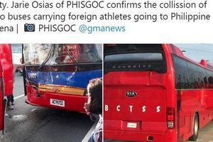 Xe chở đoàn thể thao Việt Nam va chạm kinh hoàng ở Philippines