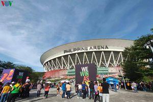 Không khí sôi động ở Philippine Arena trước lễ khai mạc SEA Games 30