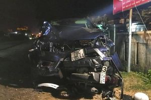 Kinh hoàng xe bán tải đâm hàng loạt xe máy làm 4 người tử vong tại chỗ