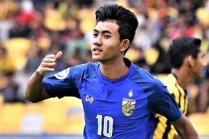 Suphanat ghi bàn cho U22 Thái Lan trước Singapore