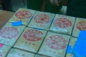 Thu giữ hàng chục bánh heroin có chữ Trung Quốc trôi dạt vào bờ biển Quảng Nam