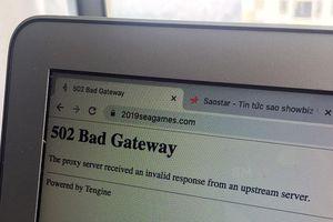 SEA Games 30 chính thức khởi tranh nhưng website vẫn… không truy cập được