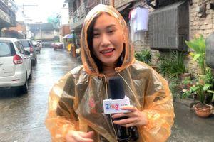 Tác nghiệp SEA Games 30 trong ngày mưa bão ở Philippines