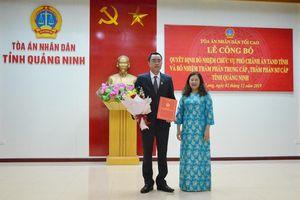 TANDTC, VKSNDTC bổ nhiệm nhân sự mới