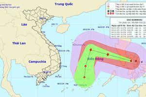 Bão Kammuri tiệm cận mức siêu bão, chiều tối nay đi vào Biển Đông