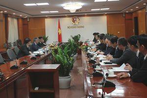 Thứ trưởng Trần Quốc Khánh tiếp và làm việc với Đoàn công tác của Tổ chức Xúc tiến Ngoại giao Nhân dân Nhật Bản