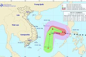 Siêu bão Kammuri hướng về phía quần đảo Trường Sa