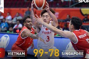 Thắng thuyết phục Singapore, bóng rổ Việt Nam vào bán kết SEA Games 30 lần đầu tiên trong lịch sử