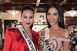 Hoàng Thùy đọ sắc với đương kim Hoa hậu Hoàn vũ Catriona Gray