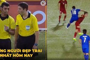 Fan Việt đổ xô vào Facebook cám ơn trọng tài, Tiến Linh suýt bị chấn thương như Neymar