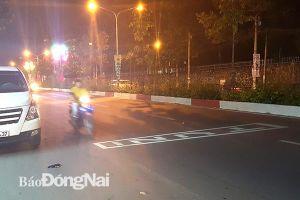 Rộ tình trạng dùng đèn LED quảng cáo trên mặt đường