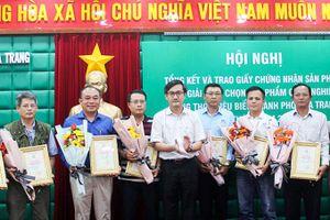 Nha Trang: Trao chứng nhận sản phẩm công nghiệp nông thôn tiêu biểu
