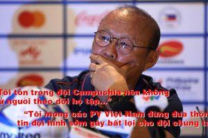 Trước bán kết với Campuchia, ông Park sợ lộ đội hình