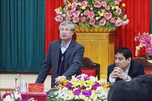 Thường trực Ban Bí thư Trần Quốc Vượng làm việc với Ban Thường vụ Tỉnh ủy Nghệ An