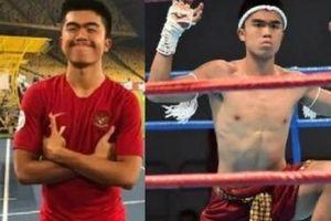 Cầu thủ bóng đá Indonesia gây sốc khi giành huy chương Muay Thái
