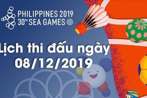 Lịch thi đấu ngày 8/12 của Đoàn Thể thao Việt Nam tại SEA Games 30