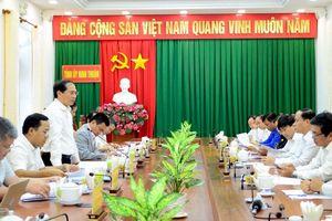 Thứ trưởng Thường trực Bùi Thanh Sơn thăm, làm việc tại Đồng Nai, Bình Thuận và Ninh Thuận