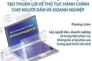 Cổng Dịch vụ công Quốc gia: Tạo thuận lợi về thủ tục hành chính cho người dân và doanh nghiệp