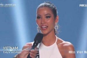 Lọt top 20 Miss Universe, Hoàng Thùy dõng dạc đọc tục ngữ Việt Nam
