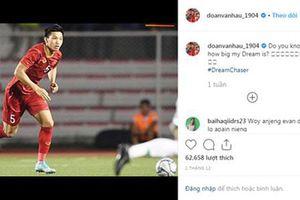 Trang Instagram của Văn Hậu bị hàng loạt CĐV Indonesia tấn công, khiêu khích