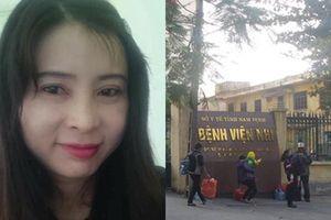 Bắt trưởng phòng điều dưỡng bệnh viện Nhi Nam Định