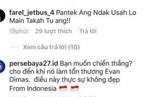Thua 0-3, fan U22 Indonesia tấn công trang cá nhân Đoàn Văn Hậu