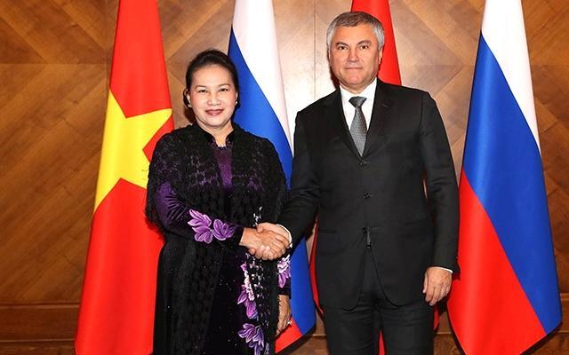 Chủ tịch QH Nguyễn Thị Kim Ngân dự, phát biểu tại phiên họp toàn thể Hội đồng Liên bang Nga