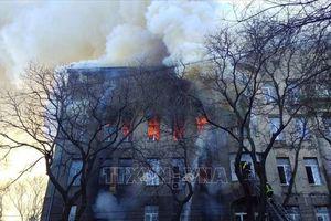 Số người thiệt mạng trong vụ cháy trường cao đẳng ở Odessa tăng mạnh