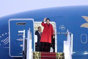 Chủ tịch Quốc hội Nguyễn Thị Kim Ngân và Đoàn đại biểu cấp cao Quốc hội Việt Nam đến Thủ đô Minsk, bắt đầu chuyến thăm chính thức Cộng hòa Belarus