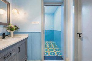 Căn hộ 89m² đẹp như tranh vẽ của gia chủ yêu màu xanh