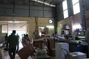 Kho, xưởng sản xuất rộng 15.000m2 tồn tại nhiều vi phạm về phòng cháy