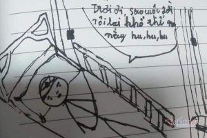 Xót xa bức vẽ của cậu bé Hà Tĩnh mắc chứng u não, không tiền cứu chữa
