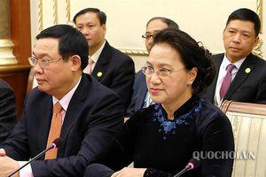 Chủ tịch Quốc hội Nguyễn Thị Kim Ngân hội đàm Chủ tịch Hạ viện Belarus