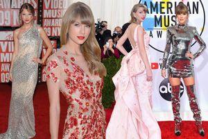 Taylor Swift và những bộ cánh đẹp nhất trên thảm đỏ 10 năm qua