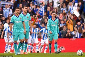 Barcelona có nguy cơ mất ngôi đầu bảng sau trận hòa thất vọng trước Sociedad