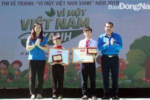 Tổng kết và trao giải cuộc thi vẽ tranh 'Vì một Việt Nam xanh'